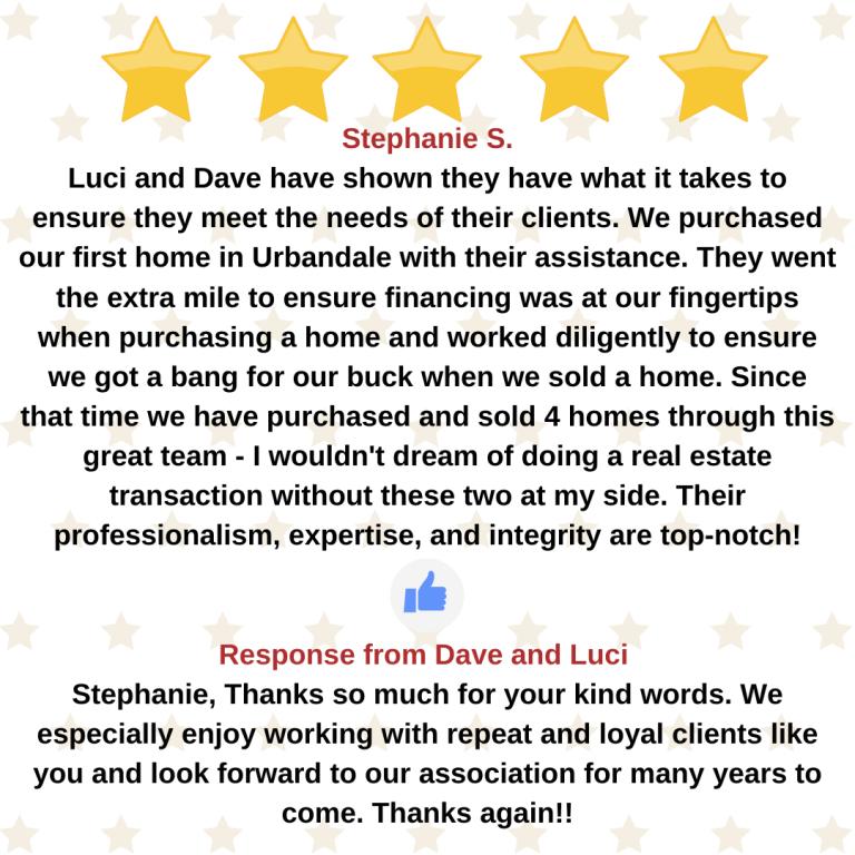Stephanie S. google review